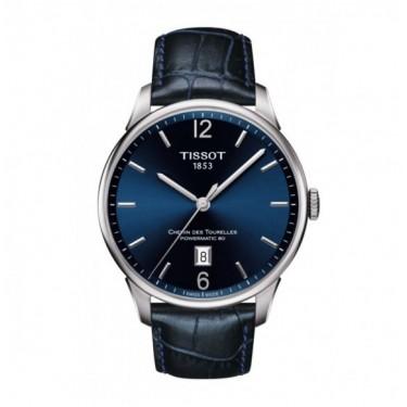 TISSOT CHEMIN DES TOURELLES POWERMATIC 80 BLUE Leather strap